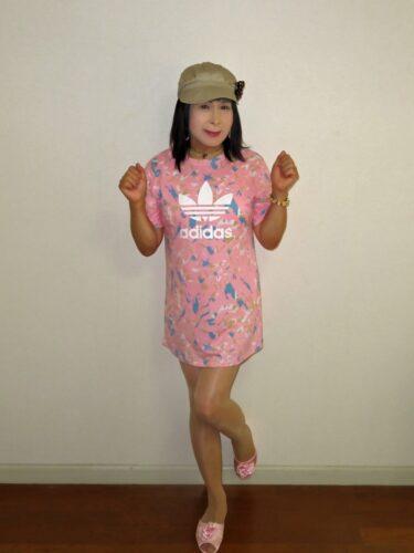 adidas ピンクのチュニックワンピ(1)